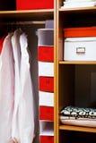 Houten garderobe Royalty-vrije Stock Foto