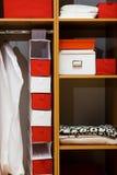 Houten garderobe Stock Fotografie