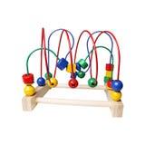 Houten geïsoleerd stuk speelgoed Royalty-vrije Stock Fotografie