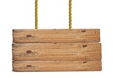 Houten geïsoleerd uithangbord Stock Foto