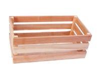 Houten geïsoleerde doos Stock Foto