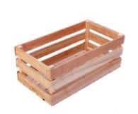 Houten geïsoleerde doos Stock Foto's