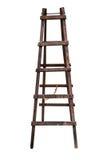 Houten geïsoleerde ladder stock foto