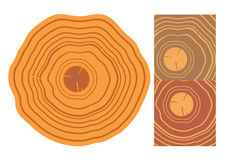 Houten geïsoleerde textuur en elementen Royalty-vrije Stock Afbeeldingen