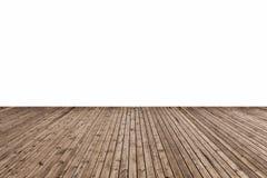 Houten geïsoleerde vloer Stock Foto