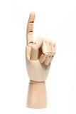 Houten geïsoleerdee hand Royalty-vrije Stock Foto