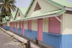 Houten gekleurd huis Stock Afbeeldingen
