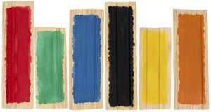 Houten gekleurde geïsoleerde raad Royalty-vrije Stock Fotografie
