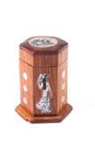 Houten gemaakte dooshand - Royalty-vrije Stock Afbeelding