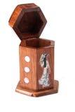 Houten gemaakte dooshand - Stock Afbeelding