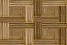 Houten geometrische abstracte achtergrond - de strook driedimensioneel effect van muurpanelen Stock Foto