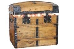 Houten geopende doos Stock Foto
