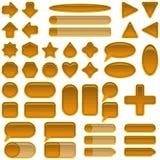 Houten geplaatste glasknopen stock illustratie
