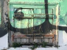 Houten gesloten blinden Stock Fotografie