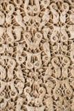 Houten gesneden decoratie van Alhambra stock afbeelding