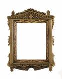 Houten gesneden Frame voor beeld of portret stock afbeeldingen