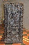Houten-gesneden Meermin in een Bank bij Zennor-Kerk, Cornwall Royalty-vrije Stock Afbeeldingen