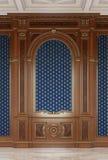 Houten gesneden panelen in een klassieke stijl in donkere kleuren het 3d teruggeven royalty-vrije illustratie