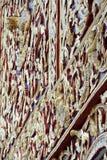 Houten geveltop gouden gravure Royalty-vrije Stock Fotografie