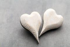 Houten gevormd hart Geplaatste vector: Modieuze 2014 paarden De daggroet van de valentijnskaart Stock Afbeeldingen