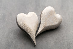 Houten gevormd hart Geplaatste vector: Modieuze 2014 paarden De Daggroet van Valentine ` s Stock Fotografie
