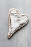 Houten gevormd hart Geplaatste vector: Modieuze 2014 paarden De Daggroet van Valentine ` s Royalty-vrije Stock Foto