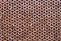 Houten Gevormde Mat - Abstracte Achtergrond stock foto
