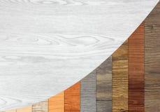 Houten Geweven Stijgende Grafiekbars Stock Afbeelding