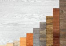 Houten Geweven Stijgende Grafiekbars Royalty-vrije Stock Afbeelding