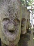 Houten gezichten Stock Afbeelding