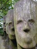 Houten gezichten Royalty-vrije Stock Fotografie