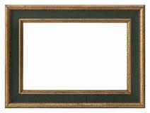 Houten gouden fotoframe Stock Foto's