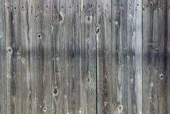 Houten grijze donkere textuur van de omheiningsraad Stock Afbeelding
