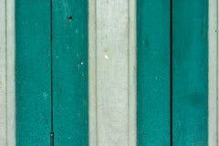 Houten groene witte achtergrond Stock Foto