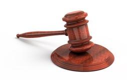 Houten hamer van het hof Royalty-vrije Stock Foto