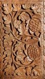 Houten hand gesneden patroon Stock Afbeelding