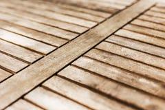 Houten harde houten de textuurachtergrond van de lijstbovenkant Stock Afbeeldingen