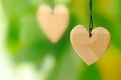Houten hart Royalty-vrije Stock Afbeeldingen