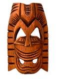 Houten Hawaiiaans masker stock foto