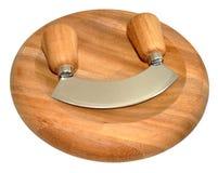 Houten Herb Chopping Board royalty-vrije stock foto's