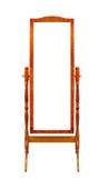 Houten het frame van de vloer spiegels Royalty-vrije Stock Fotografie