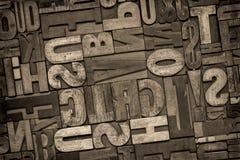 Houten het type van letterzetsel samenvatting Royalty-vrije Stock Afbeelding