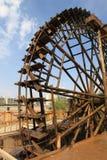 Houten het waterwiel van Lanzhouchina Stock Afbeeldingen