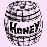 Houten Honingspot Royalty-vrije Stock Foto's