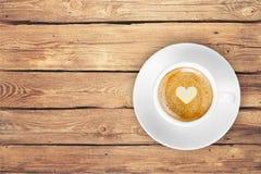 Houten hoogste koffie Stock Fotografie