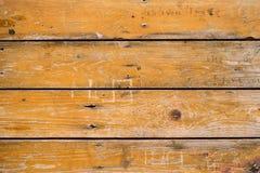 Houten horizontale sinaasappel Stock Afbeelding