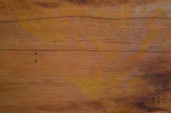 Houten huid met zachte gele kleurentextuur Stock Afbeelding