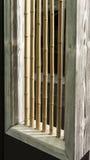 Houten huis van het bamboe het binnenlandse ontwerp Stock Afbeelding