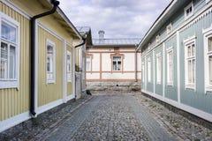Houten Huisvesting - Unesco-de plaats van de Werelderfenis stock foto