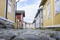 Houten Huisvesting - Unesco-de plaats van de Werelderfenis stock fotografie